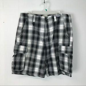 Anchor blue mens blue gray cargo shorts 36